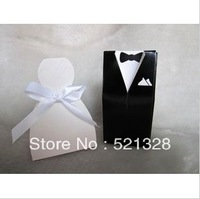 100pcs Bride and Groom Wedding Favor Boxes gift box candy box European candy box