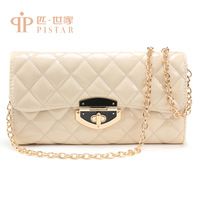 Summer fashion one shoulder plaid chain small women's handbag