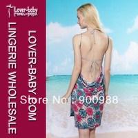Free Shipping Summer Ladies' Sheer Sunflower Strap Cover-up Sarong Bikini Dress Holiday Beach Skirt