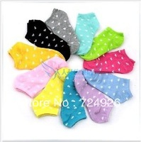 1lot=12pairs=24pcs socks women slipper  socks  thin invisible socks heart shape print meias femininas