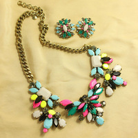 2013 New arrival J C Colourful brand  necklace  Earrings   jewelry set  free shipping