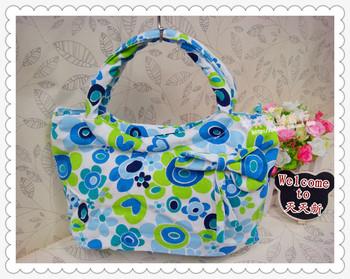 Canvas cartoon small handbag tote bag small bag small gentlewomen bag handbag  MOQ>=10USD