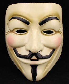 V vendetta team guy fawkes masquerade Halloween carnival Mask(adult size) free shipping