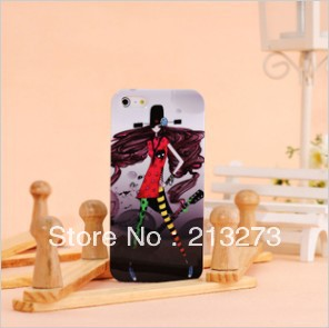 Plastic beautiful girl design mobile case Water transfer New arrival