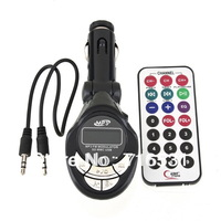 Lute Car MP3 player LCD display without memory with remote control audio cable