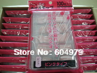 Wholesale / Free-shipping  Lastest -100pcs In One Set Pink False Full Nail Tips Full Cover Tips,Tips In Box