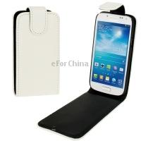 Imitation Sheepskin Texture Vertical Flip Leather Phone Case for Samsung Galaxy S 4 mini  i9190 White