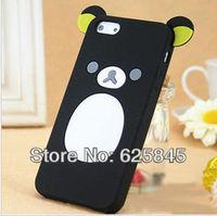 New Cartoon Rilakkuma Lazy Bear Soft silicon Back Case for I5 Free shipping