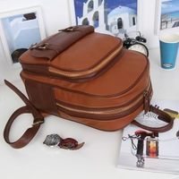 Pu vintage backpack handbag dual-use backpack school bag fashion women's handbag tablet bag