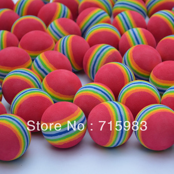 Golf ball spongeexercise soft  multicolour eva exercise rainbow ball free shipping by china post air mail.