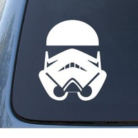 STORMTROOPER - Star Wars - Car, Truck, Notebook,  Decal Sticker  | Vinyl Color: White