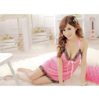 Sexy Sleepwear Women Dress +T Pants Underwear Lingerie Homewear Chemise G-string I0366