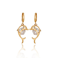 ER0068 New 2013  Fashion Jewelry  Drop Earrings 18K Gold Plated Inlay Zircon Crystal Dangle Earrings Beads Pearl Hot Selling