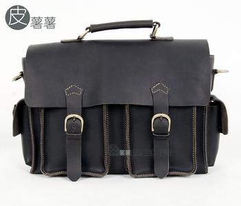 Leather genuine leather vintage shoulder bag crazy horse leather messenger bag fashion bag fashion handbag messenger bag