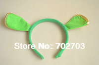 Free Shipping New Shrek Mascot Costumes Cartoon Fancy Dress Halloween Party Headband