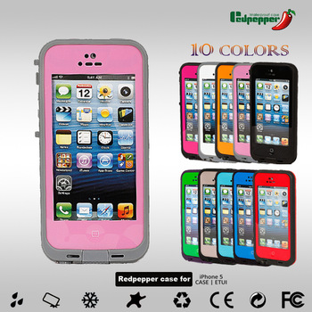 Hot 10 color Shockproof Waterproof Case Cell Phone Cases Protector Water Proof For iPhone 5