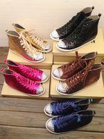 Metal glitter japanese platform women's belt flat boots sport shoes