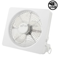 White USB Mini Energy Saving Strong Wind Fan Tilted angle adjustable Power Source: USB or AA Batteries