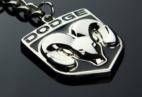 Silvery Brightness DODGE Emblem Keychain Keyring Ring 30PCS/LOT Free Shipping