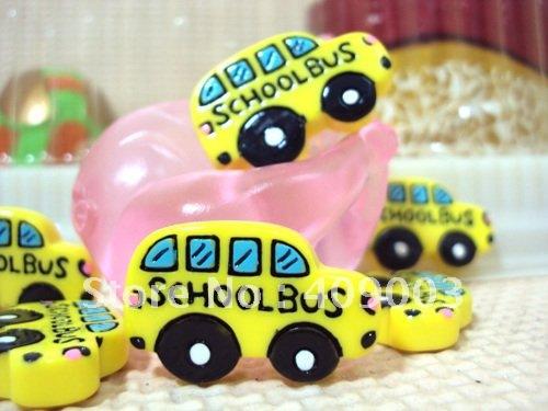 5Y8172 28*18*5mm school bus resin hairbows printed ribbon freeshipping(China (Mainland))