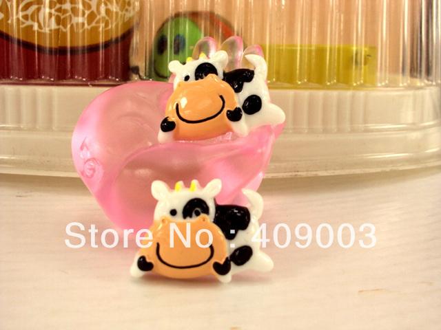 5Y8209 27*18*5mm cow resin hairbows printed ribbon freeshipping minimum order USD 6.00(China (Mainland))