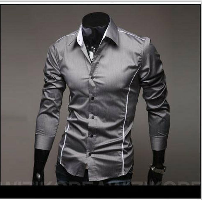 Free Shipping 2012 Brand New style Design Mens Shirts high quality Casual Slim Fit Stylish Dress Shirts 3 Colors Size:M~XXXL5902(China (Mainland))