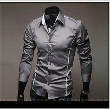 Envío gratis 2012 nueva marca de estilo diseño camisas de alta calidad ocasionales adelgazan color con estilo apto de las camisas 3 colores tamaño : M ~ XXXL5902(China (Mainland))