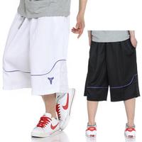 Ultralarge men's clothing Sports Casual loose Basketball Shorts l street Basketball Sports Shorts men's Capris