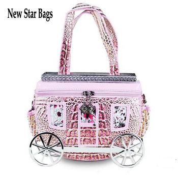2013  vintage women's crocodile pattern handbag carriage wedding shoulder  bag  small cross-body bag high quality AM218