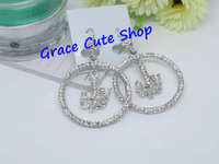 Free Shipping Lady Drop Earring Fashion Jewelry Gold/Silver Plating High Quality Package (Dust Bag,Gift Box) #JCE046