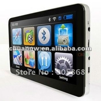 2013 7inch MTK newest style GPS navigation, DDR 128 M, Bluetooth + AV IN + FM+4GB, MTK solution 500 MHz, CE 6.0 Free SG post