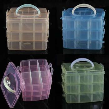 Free Shipping 1PC Multi Utility Storage Case Box 3 Layer Nail Art Craft Fishing Makeup Tool