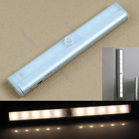 10 LED IR Infrared Motion Detector Wireless Sensor Closet Cabinet Light Lamp