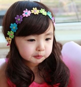 Cotton Fabrics Headdress Princess Lace Elasticity Baby Headband Flower Hair