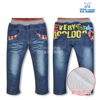 New style of 2013 autumn winters, Wholesale brand thick winter warm cashmere kids pants Boys children jeans baby jeans