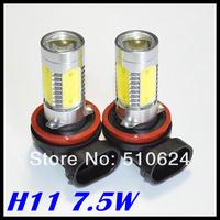 Wholesale H11 H8 9006 hb4 7.5W Car LED Fog Lamp Automobile Light Bulbs Wedge High power