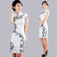 Embroidered cheongsam black vintage chinese style formal dress summer fashion classical 2013 one-piece dress