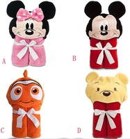 Hot!Retail towel brand minnie mickey boy girl Animal Baby bathrobe/hooded animal costumes beach towels clearance