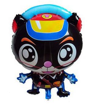 Free Shipping 50PCS/LOT Black Cat Cartoon Mylar Balloons&Helium Balloons 67cmx46cm Wholesales balloons