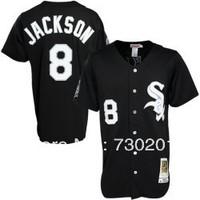 Chicago White Sox #8 Bo Jackson Black Vintage 1991 Baseball Jerseys