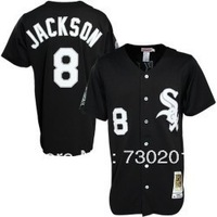 Chicago White Sox #8 Bo Jackson Black Vintage 1991 Baseball Jerseys