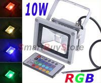 30pcs/lot,10W IP65 Waterproof RGB Remote Control floodlight Landscape Lamp RGB LED Flood Light Free shipping