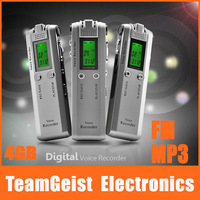 20/lot 4GB 1.2 LCD Digital Voice Recorder Voice Activation recording MP3 Player FM & Telephohne Recorder Pen FEDEX Free Shipping