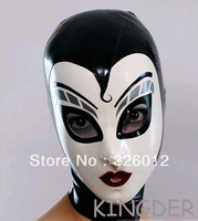 100% nature rubber fetish mask latex party hood for adult