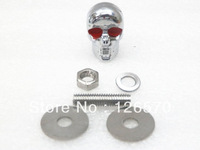Chrome Skull Skeleton Bolts for Yamaha V-Max Road Royal Star Virago Raider Harley Chopper Sportster Dyna Softail