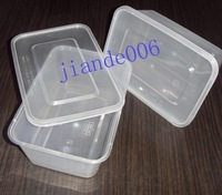 Disposable fast food box lunch box packing box microwave plastic lunch box with lid 750ml 15392