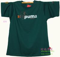 2013 plus size 100% male short-sleeve cotton t-shirt fat men's clothing clothes short-sleeve t shirt