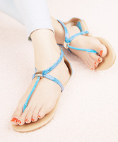 Free Shipping Brief fashion small street fashion vintage three-color flip beach flip-flop plus size female sandals