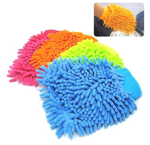 Car wash supplies dust gloves chenille ultrafine ultra soft clean gloves household multifunctional car(China (Mainland))