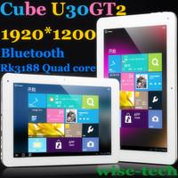 Free Shipping 10.1'' IPS Cube U30GT2 Quad Core Rockchip RK3188 Android 4.1 Tablet PC 2G RAM 32GB ROM Bluetooth 1920*1200 / Blake